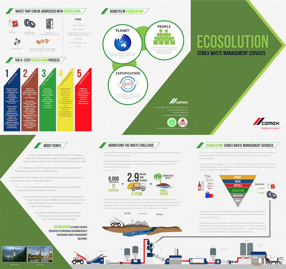 CEMEX Waste Management Services Folder-type Brochure