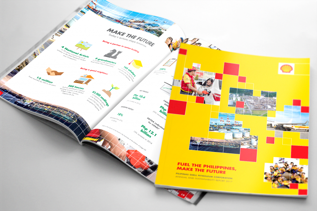 Pilipinas Shell's 2nd Annual and Sustainability Report titled Fuel the Philippines, Make the Future